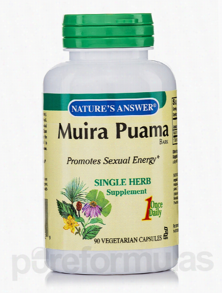 Nature's Answer Herbals/Herbal Extracts - Muira-Puama Bark - 90
