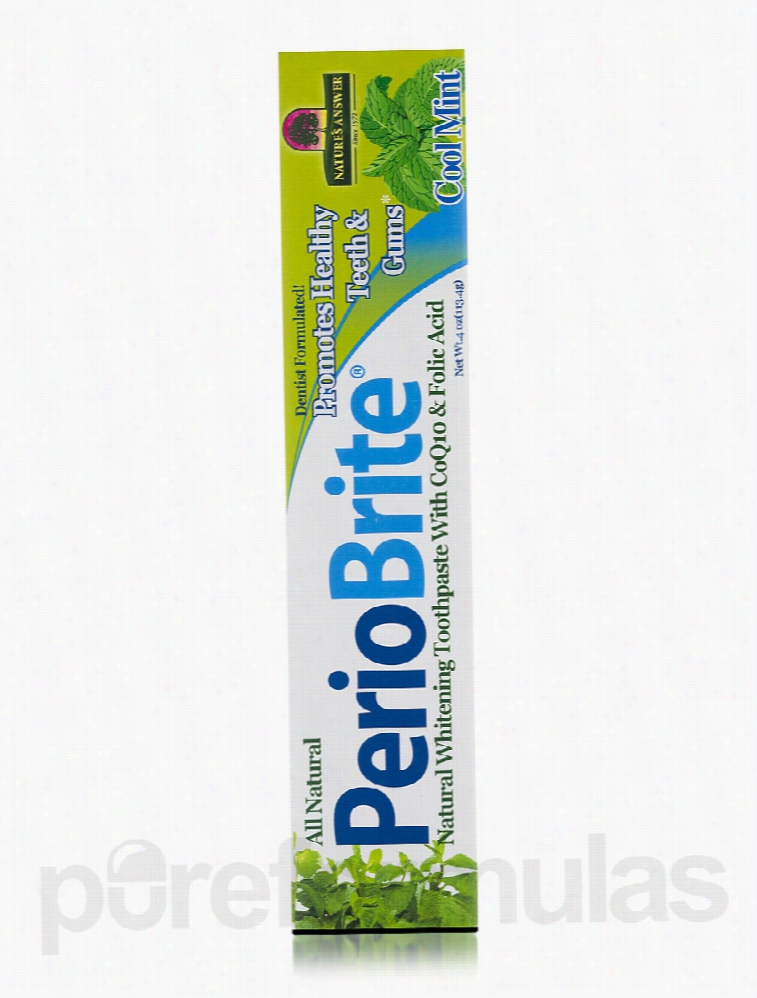 Nature's Answer Oral Health - PerioBrite Natural Toothpaste, Cool
