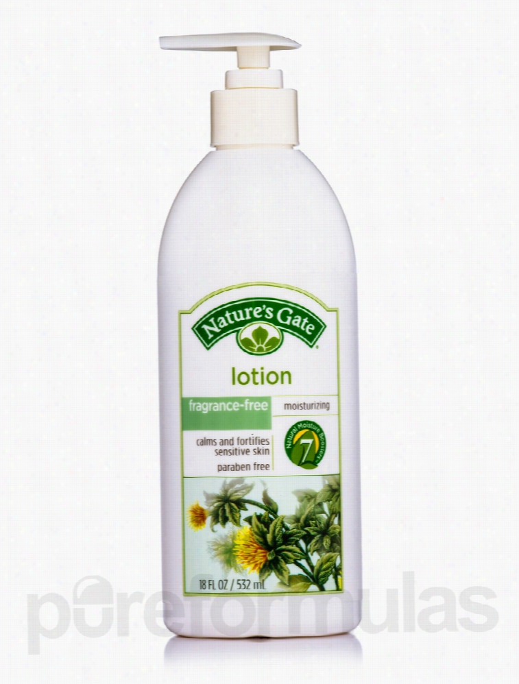 Nature's Gate Bath and Body - Fragrance-Free Herbal Lotion - 18 fl. oz