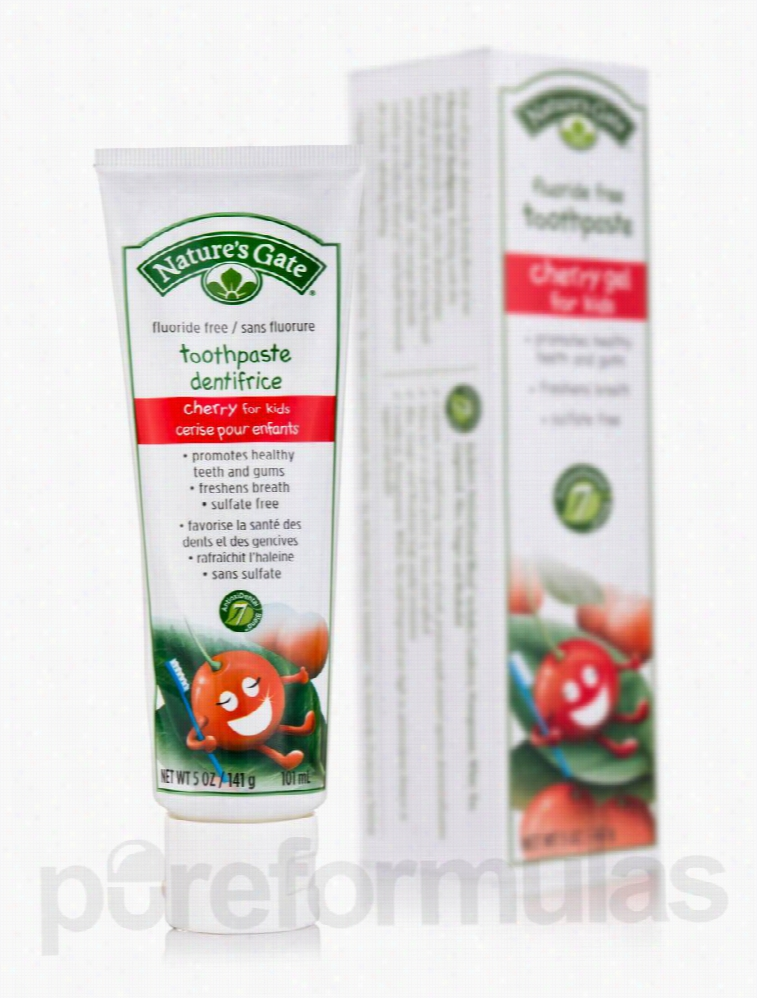 Nature's Gate Oral Health - Cherry Gel Toothpaste for Kids (Fluoride