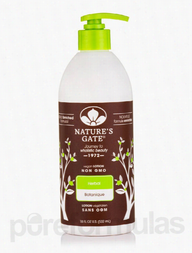 Nature's Gate Skin Care - Herbal Moisturizing Lotion - 18 fl. oz (532