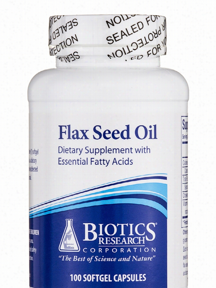 Biotics Research Essential Fatty Acids - Flax Seed Oil - 100 Capsules
