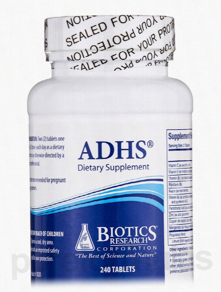 Biotics Research Hormone/Glandular Support - ADHS - 240 Tablets
