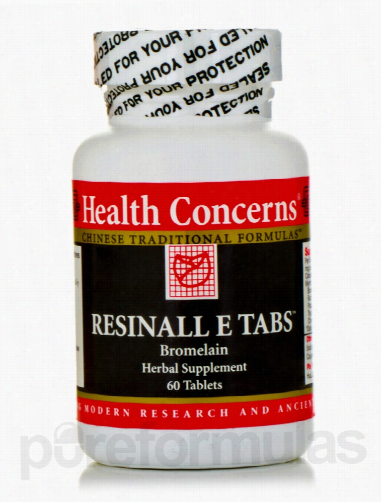 Health Concerns Cardiovascular Support - Resinall E Tabs - 60 Tablets