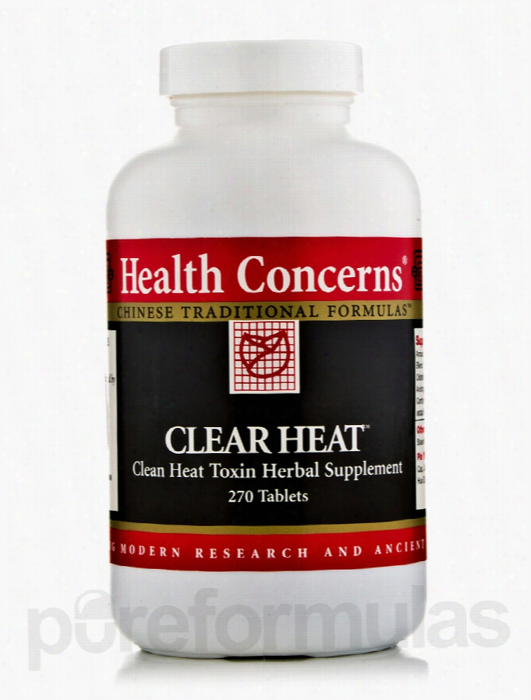 Health Concerns Herbals/Herbal Extracts - Clear Heat - 270 Tablets