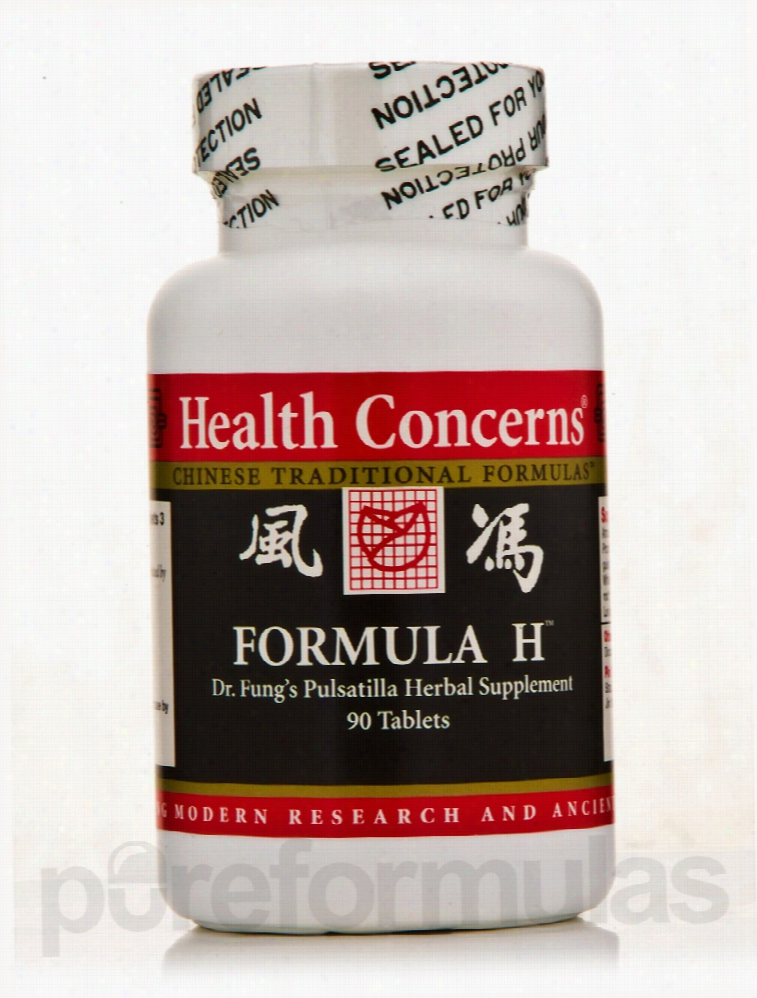 Health Concerns Herbals/Herbal Extracts - Formula H - 90 Tablets