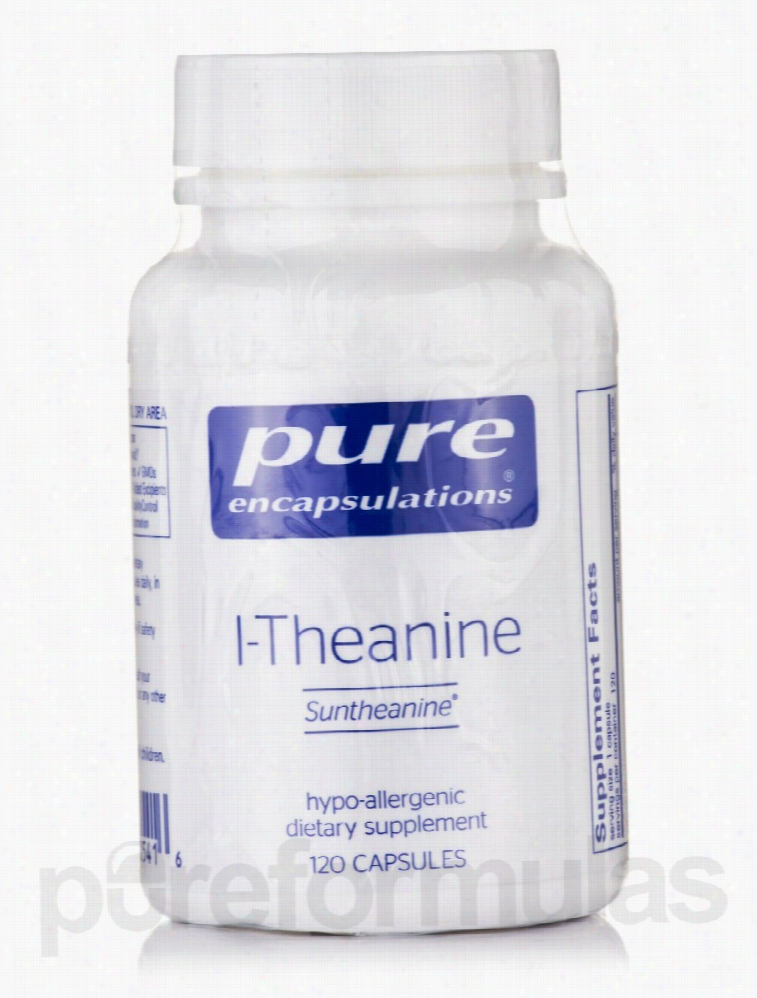 Pure Encapsulations Nervous System Support - l-Theanine - 120 Capsules