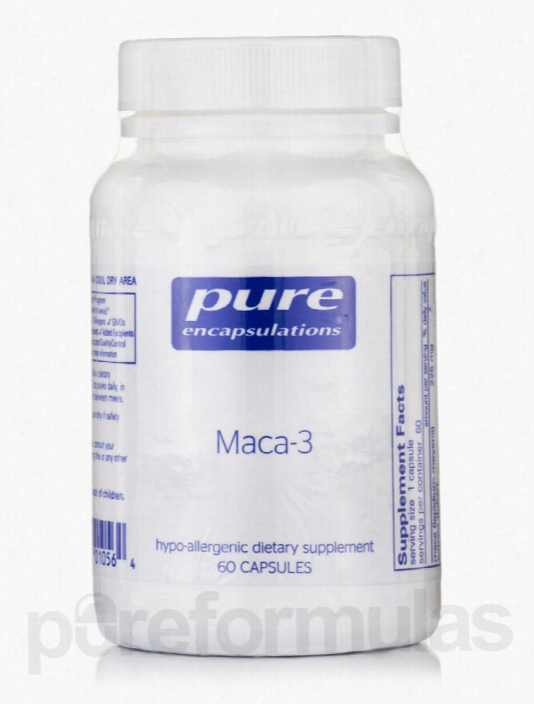 Pure Encapsulations Sexual Wellness - Maca-3 - 60 Capsules