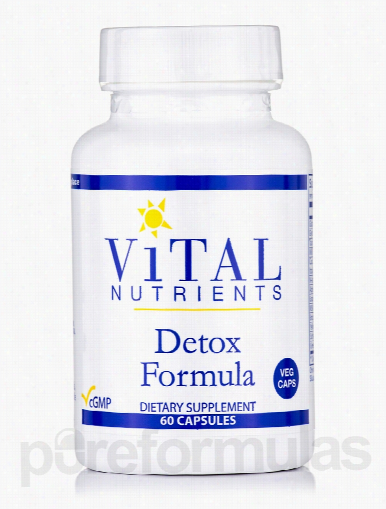 Vital Nutrients Cellular Support - Detox Formula - 60 Vegetable
