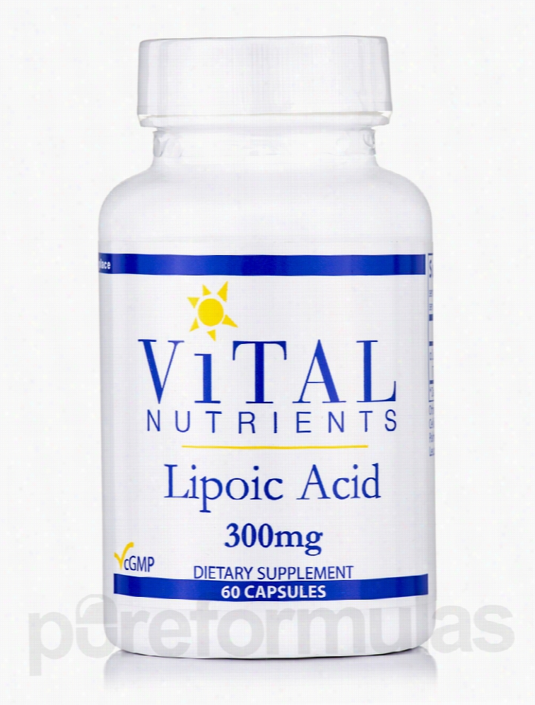 Vital Nutrients Cellular Support - Lipoic Acid 300 mg - 60 Capsules