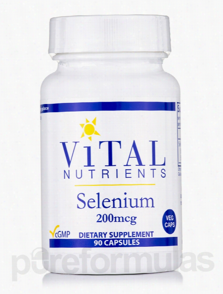 Vital Nutrients Cellular Support - Selenium 200 mcg - 90 Capsules