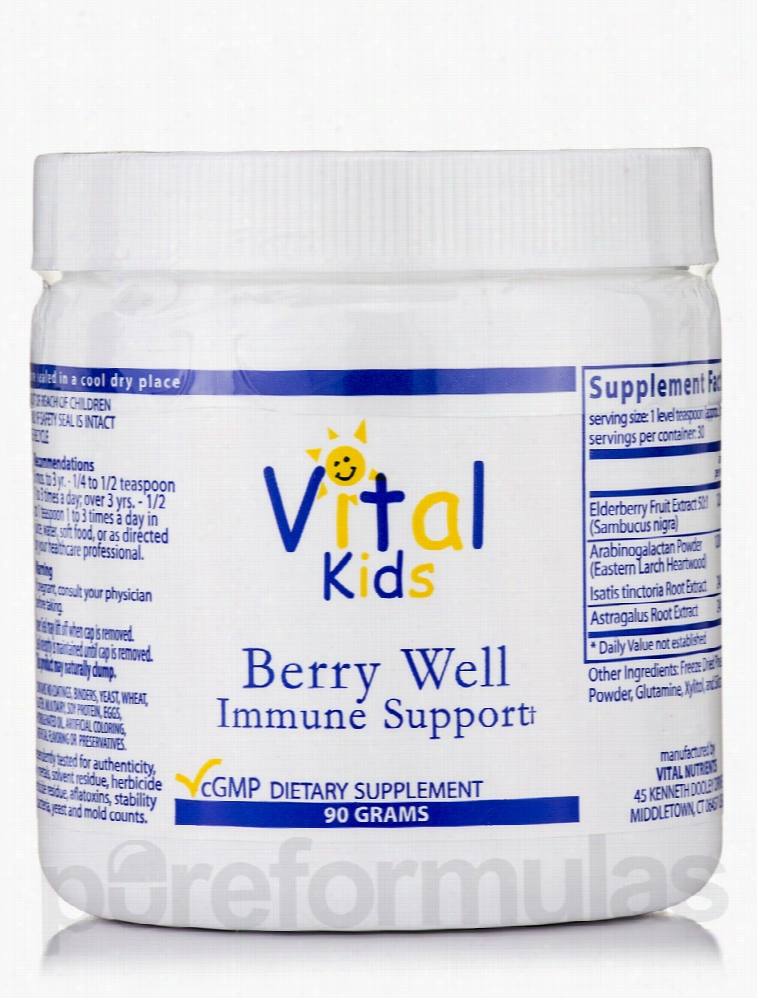 Vital Nutrients Children's Formulas - Berry Well Immune Support - 90