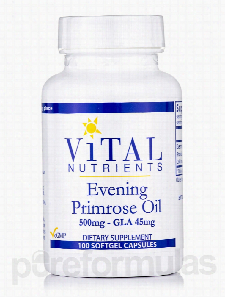 Vital Nutrients Essential Fatty Acids - Evening Primrose Oil 500 mg