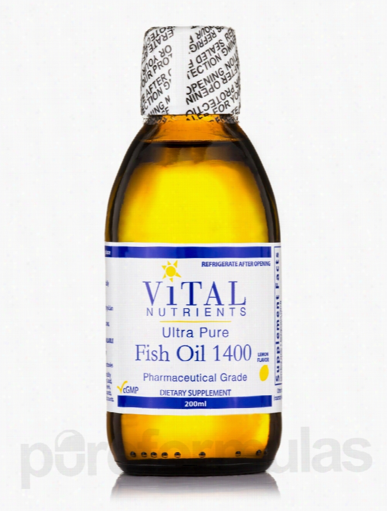 Vital Nutrients Essential Fatty Acids - Ultra Pure Fish Oil 1400 Lemon