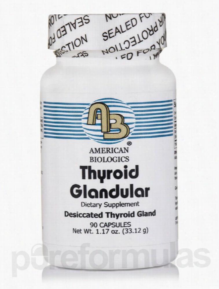 American Biologics Hormone/Glandular Support - Thyroid Glandular - 90