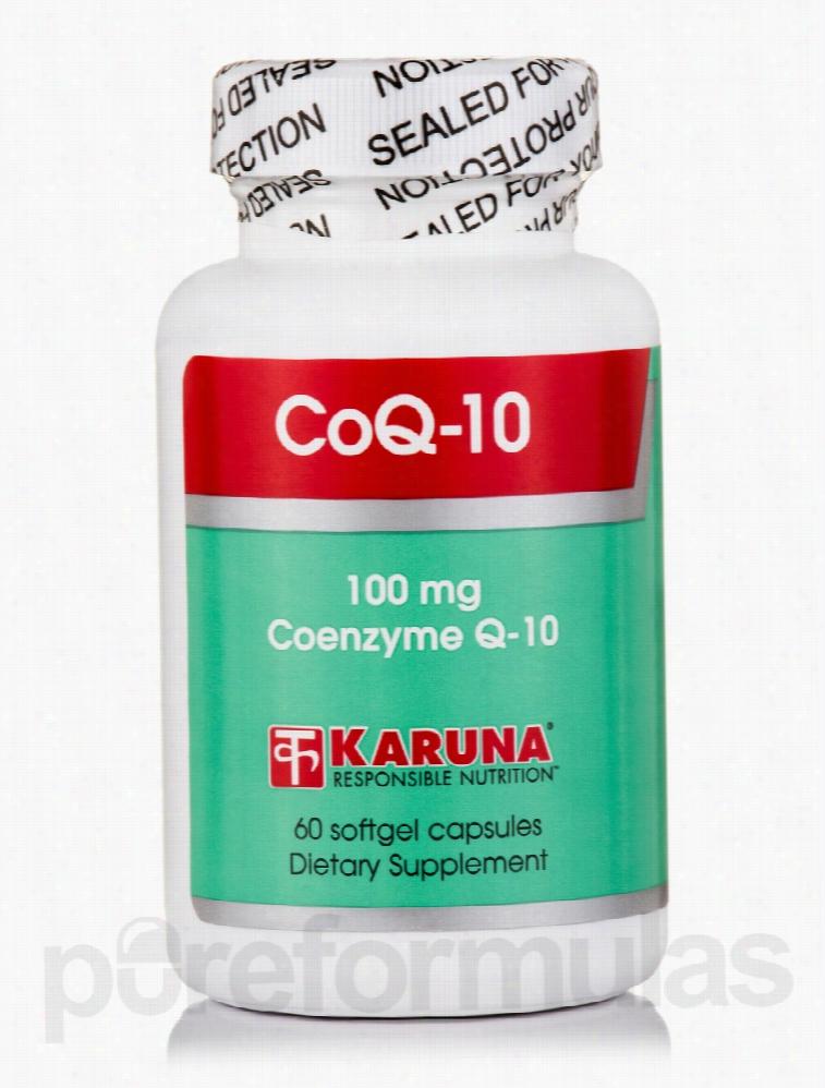 Karuna Health Cardiovascular Support - CoQ-10 100 mg - 60 Softgel