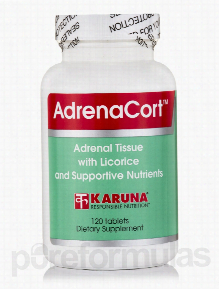 Karuna Health Hormone/Glandular Support - AdrenaCort - 120 Tablets