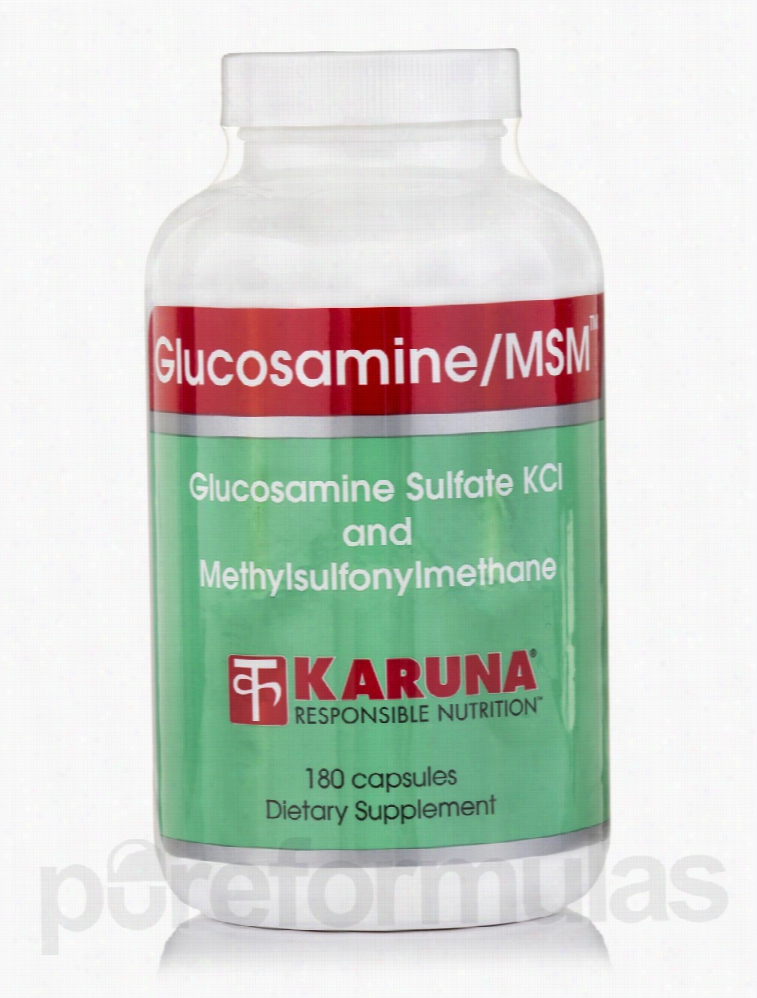 Karuna Health Joint Support - Glucosamine/MSM - 180 Capsules