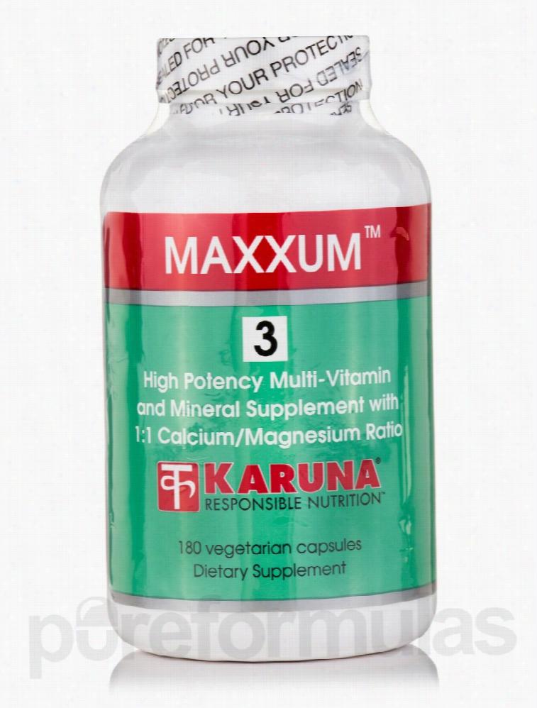 Karuna Health Multivitamins - Maxxum 3 - 180 Vegetarian Capsules