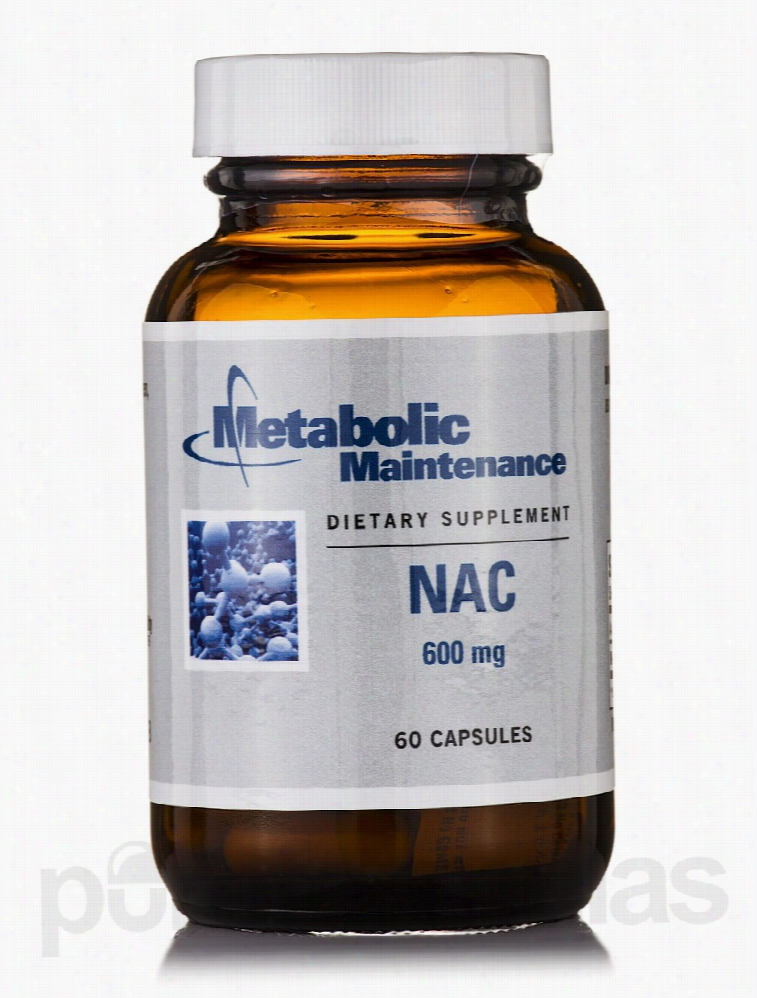 Metabolic Maintenance Cellular Support - NAC 600 mg - 60 Capsules