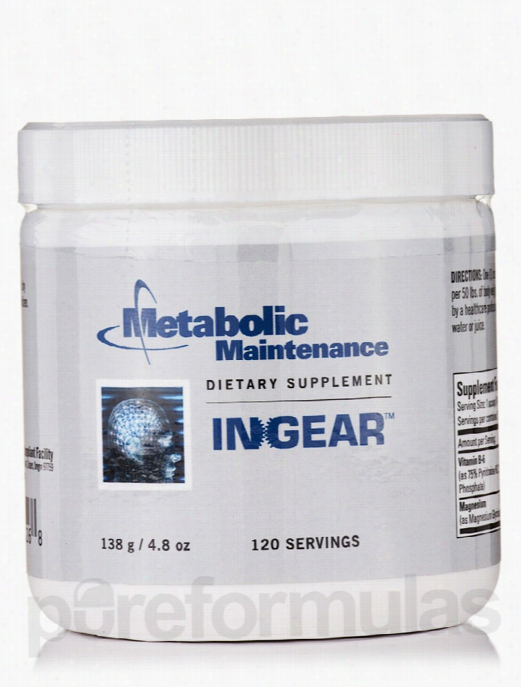 Metabolic Maintenance Memory/Cognitive Support - InGear - 120 Servings
