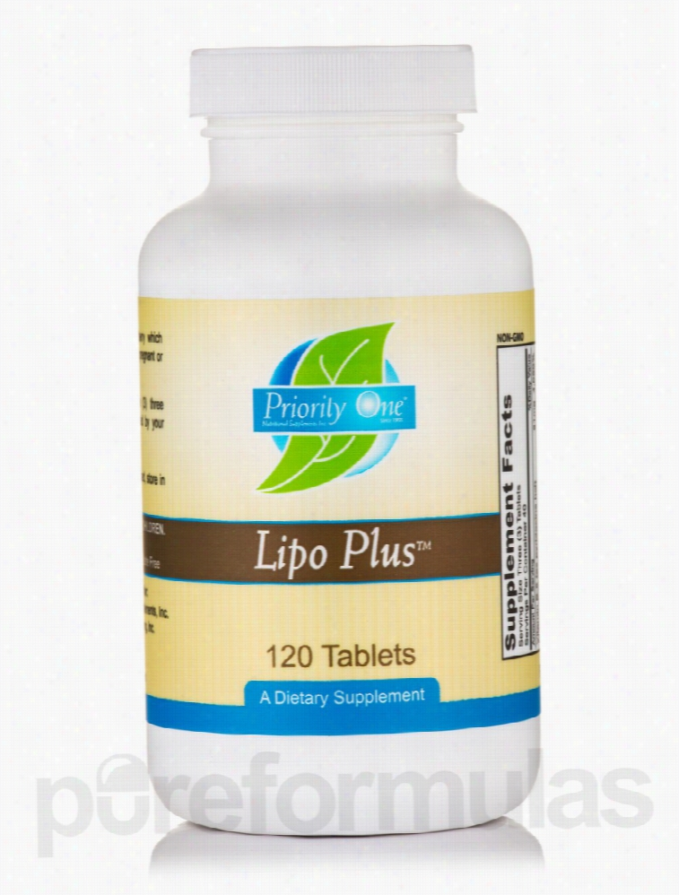 Priority One Detoxification - Lipo Plus - 120 Tablets