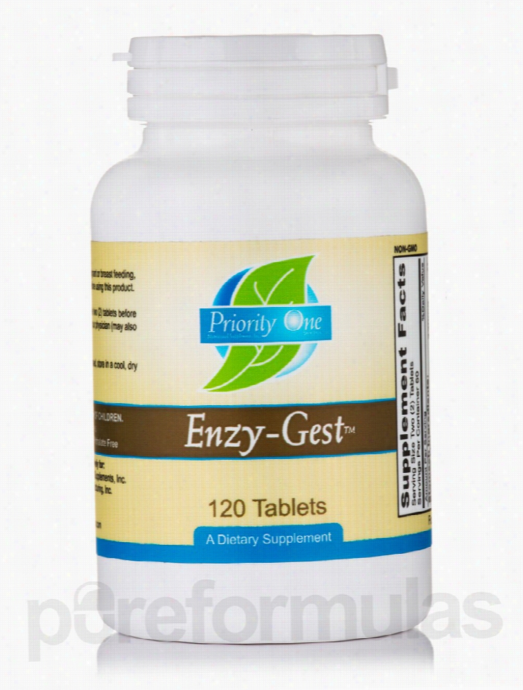 Priority One Gastrointestinal/Digestive - Enzy-Gest - 120 Tablets
