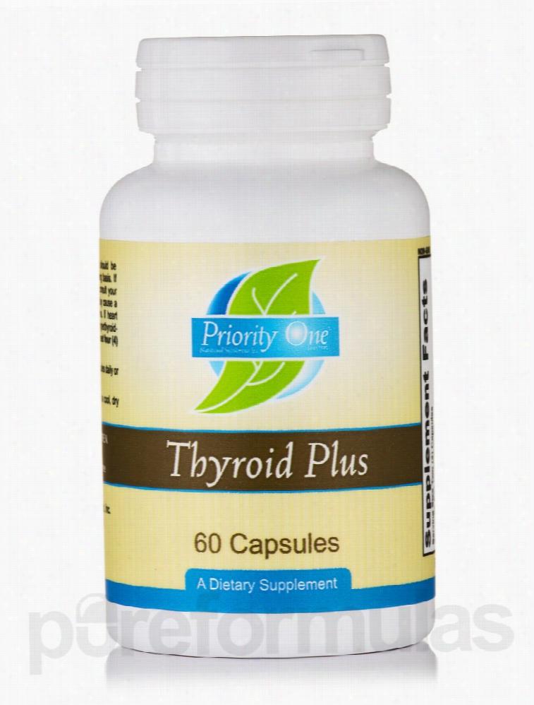 Priority One Hormone/Glandular Support - Thyroid Plus - 60 Capsules