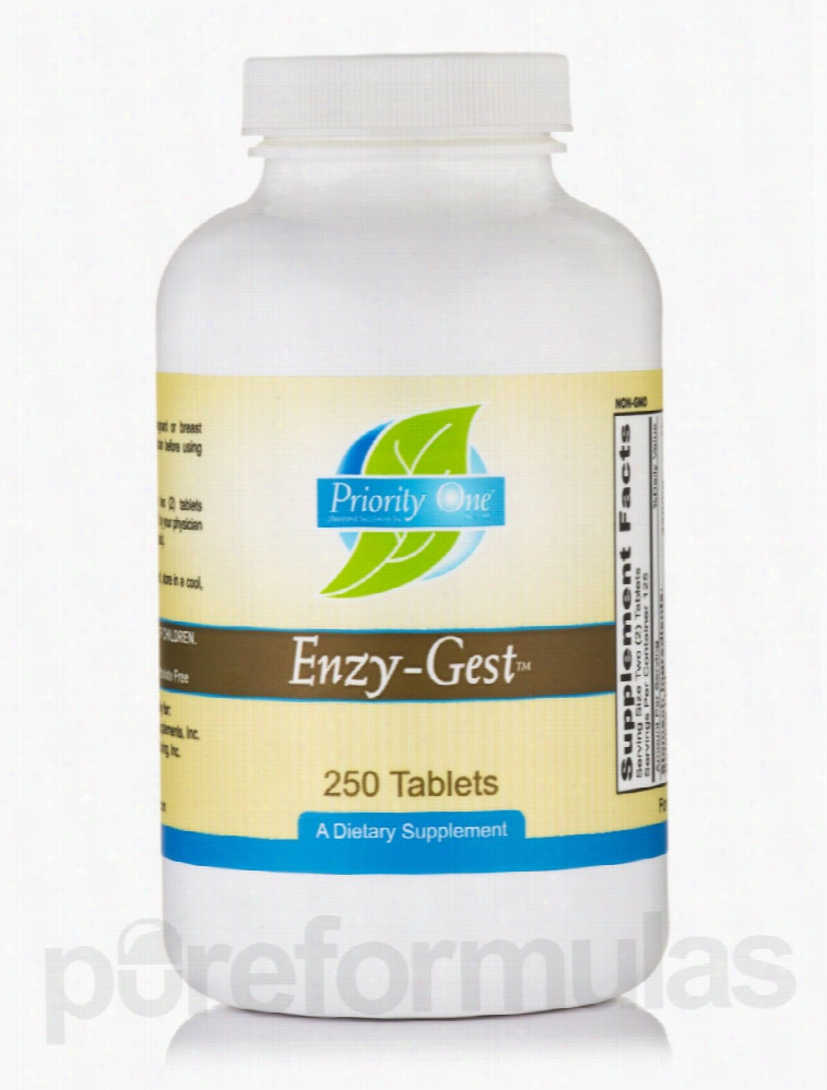 Priority One Metabolic Support - Enzy-Gest - 250 Tablets