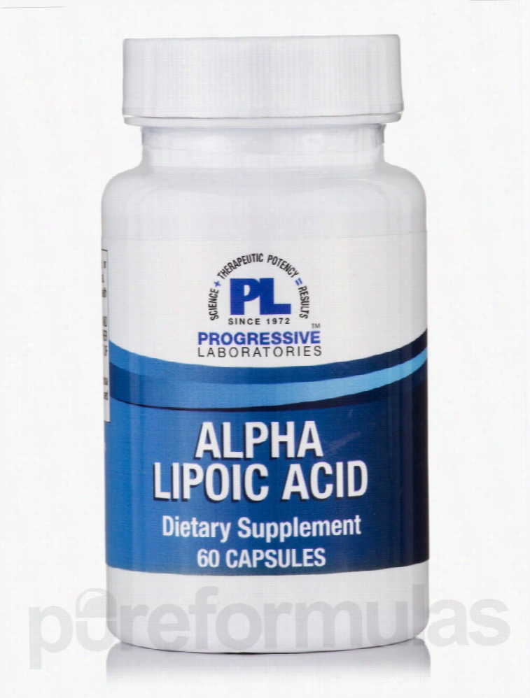 Progressive Labs Cellular Support - Alpha Lipoic Acid - 60 Capsules