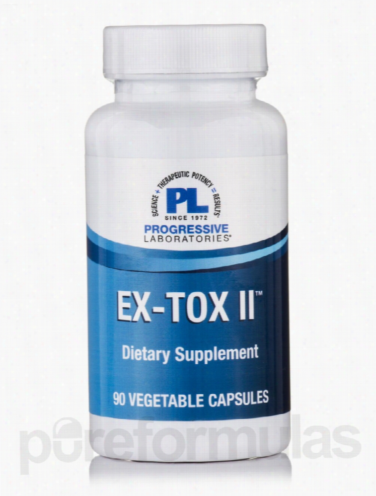 Progressive Labs Detoxification - Ex-Tox II - 90 Vegetable Capsules