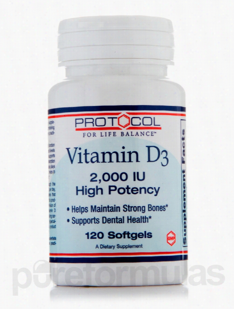Protocol for Life Balance Joint Support - Vitamin D3 2000 IU (High