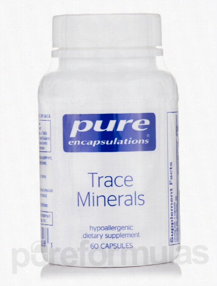 Pure Encapsulations Minerals - Trace Minerals - 60 Capsules