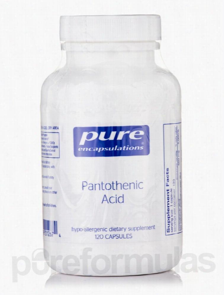 Pure Encapsulations Vitamins - Pantothenic Acid - 120 Capsules