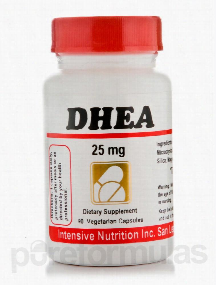 Intensive Nutrition Hormone/Glandular Support - DHEA 25 mg - 90