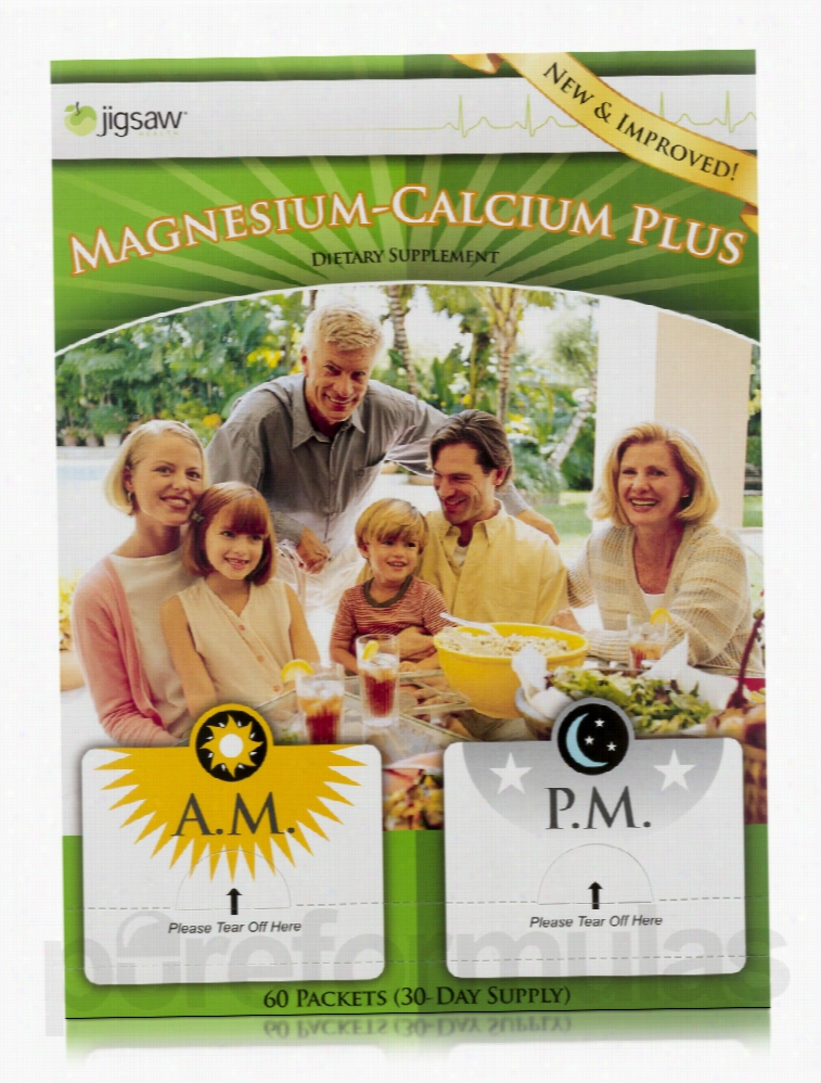 Jigsaw Health Minerals - Magnesium-Calcium Plus Daily Packets - 60