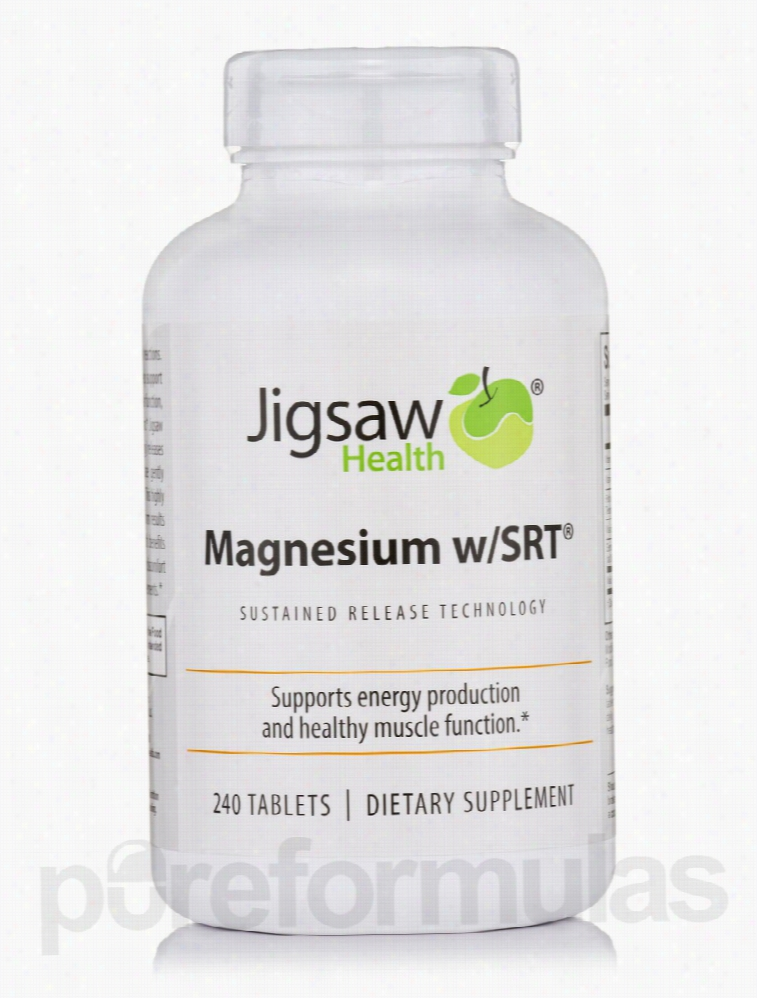 Jigsaw Health Minerals - Magnesium with SRT - 240 Tablets