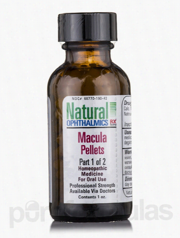 Natural Ophthalmics Homeopathic Remedies - Macula Pellets Oral Use - 1