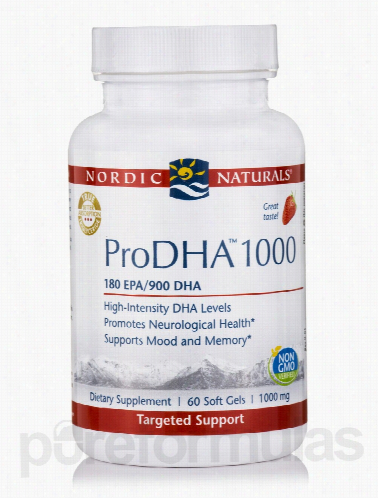 Nordic Naturals Essential Fatty Acids - ProDHA 1000 mg, Strawberry