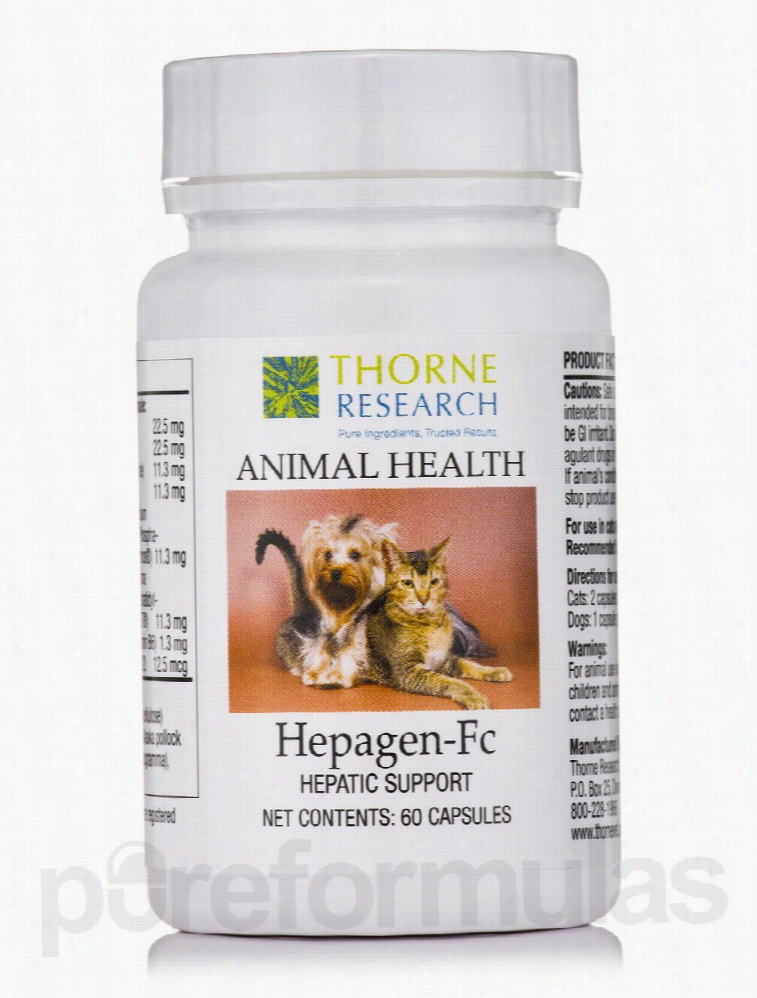 Thorne Research Dogs - Hepagen-Fc - 60 Capsules