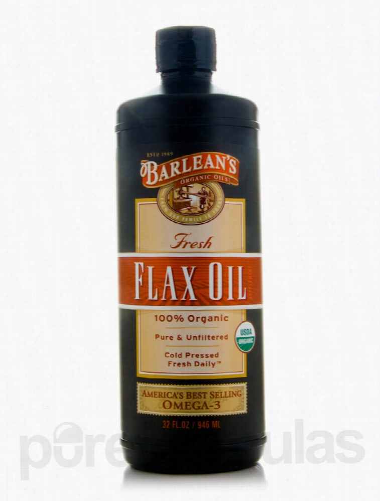 Barlean's Organic Oils Essential Fatty Acids - Flax Oil (Fresh) - 32