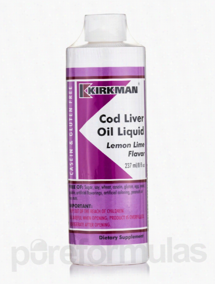 Kirkman Cardiovascular Support - Cod Liver Oil Liquid Lemon Lime