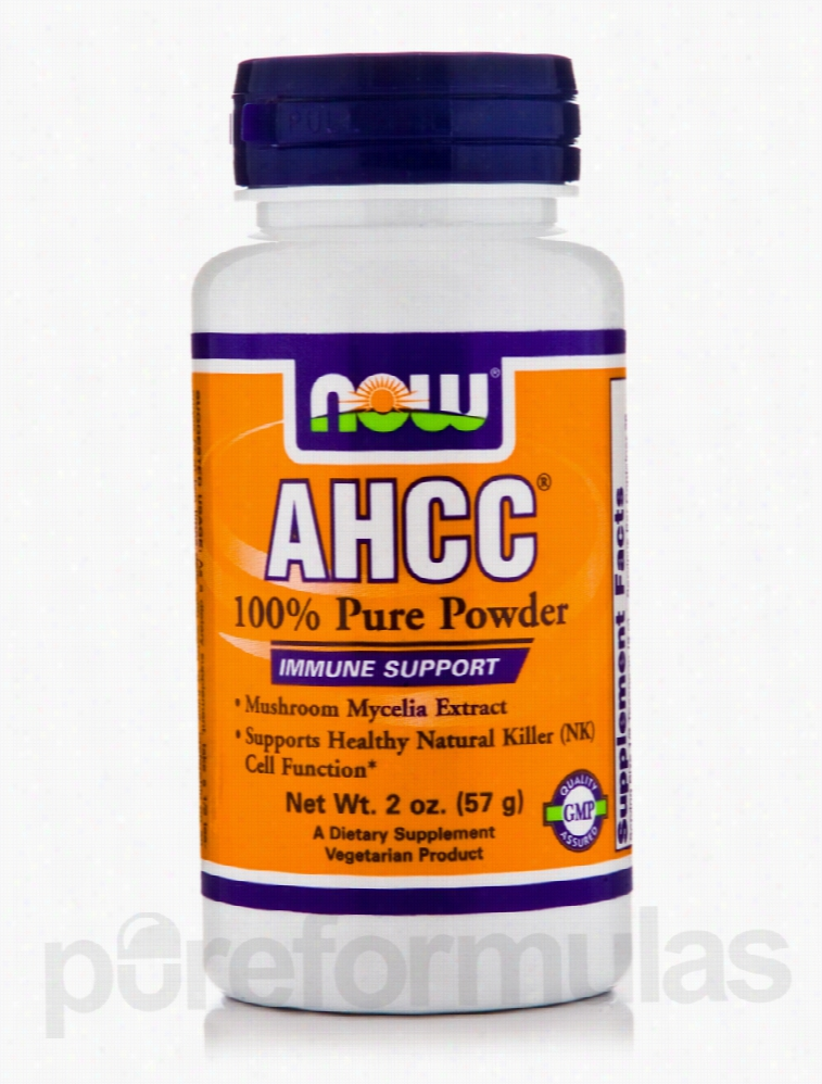 NOW Immune Support - AHCC 100% Pure Powder - 2 oz (57 Grams)