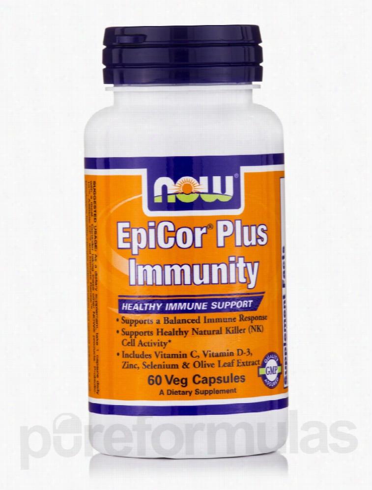 NOW Immune Support - EpiCor Plus Immunity - 60 Vegetarian Capsules