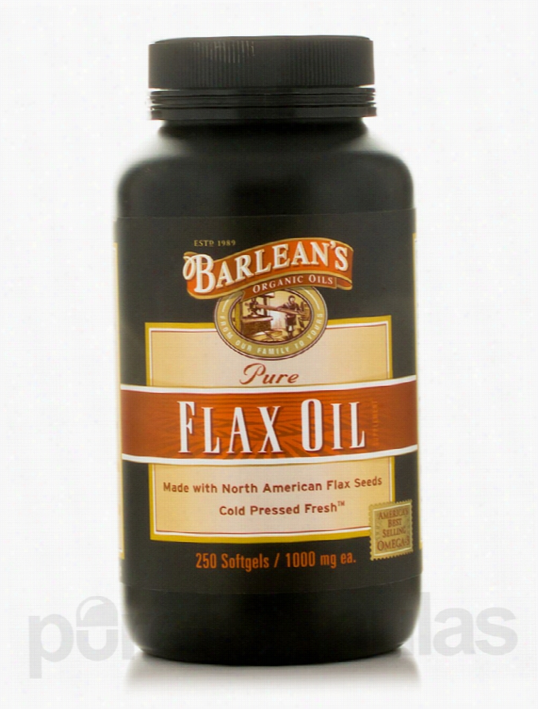 Barlean's Organic Oils Essential Fatty Acids - Flax Oil 1000 mg - 250