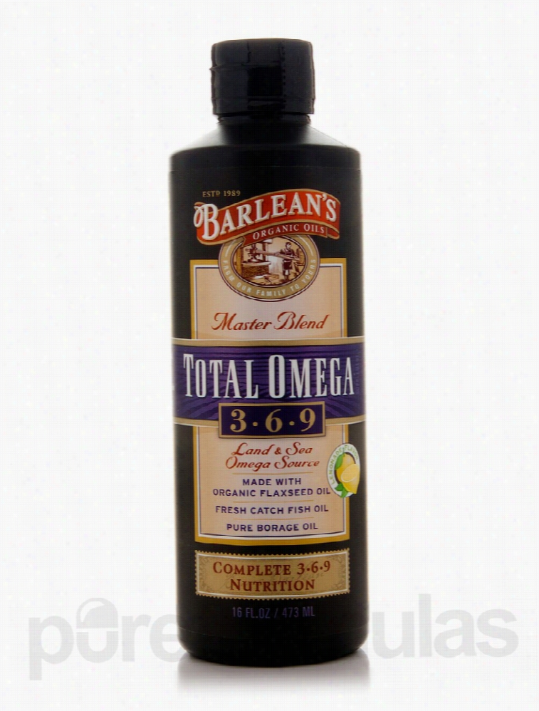 Barlean's Organic Oils Essential Fatty Acids - Total Omega 3-6-9 - 16