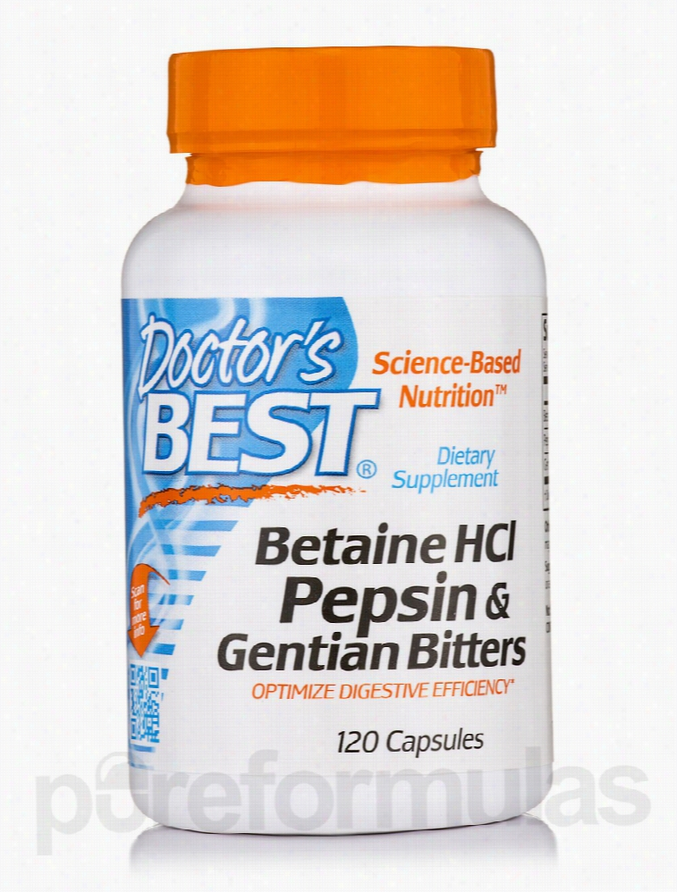 Doctor's Best Gastrointestinal/Digestive - Betaine HCL, Pepsin &