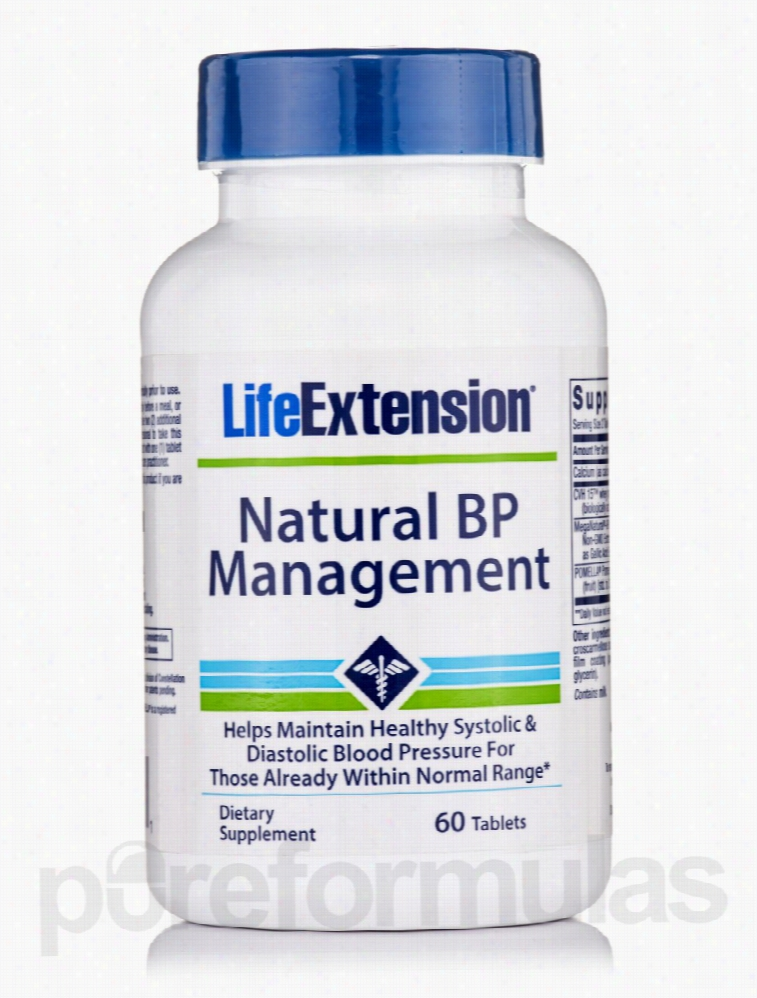 Life Extension Cardiovascular Support - Natural BP Management - 60