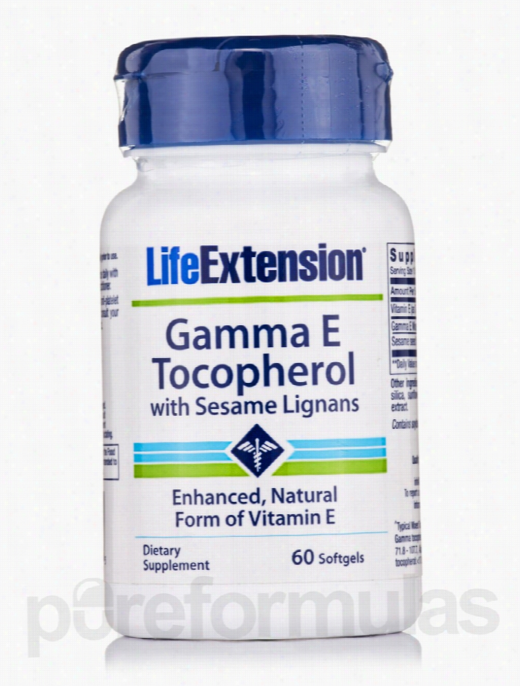 Life Extension Cellular Support - Gamma E Tocopherol with Sesame
