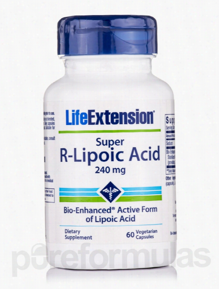 Life Extension Cellular Support - Super R-Lipoic Acid 240 mg - 60